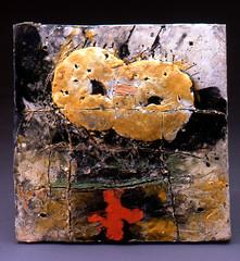 Bede Clarke New Morning (clayglazepots) Tags: wall tile university missouri piece clarke bede