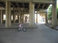 Biking Under 395 (calissajomiller) Tags: dc biking dcist 395