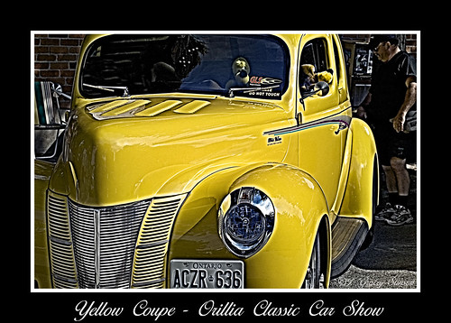 Yellow Coupe II; one of the vintage cars from the car show held annually in downtown Orillia