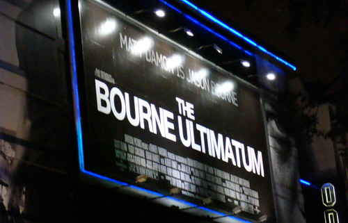 Scene couple of hours after the Bourne Ultimatum premiere in London's Leicester Square by Alan in Belfast.