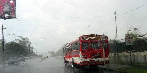 Lluvias en Carreterra Sur