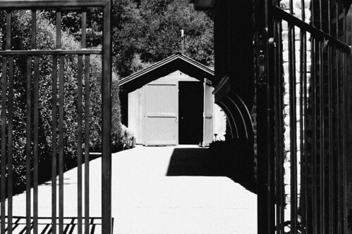 HP Garage in Black and White