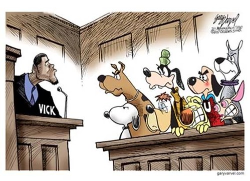 vick on trial