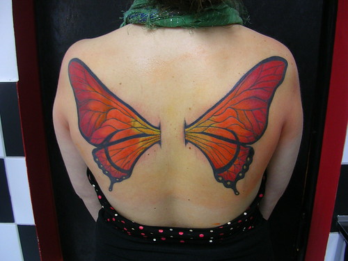 alas de mariposa freehand y cover up