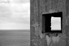 Depth in bw (Renmarc) Tags: sea summer sky italy window canon ruins flickr italia mare estate favorites more sicily faves favs capo zafferano interestingess capozafferano renmarc bwartaward