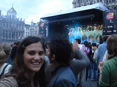 Katia at Grand Place
