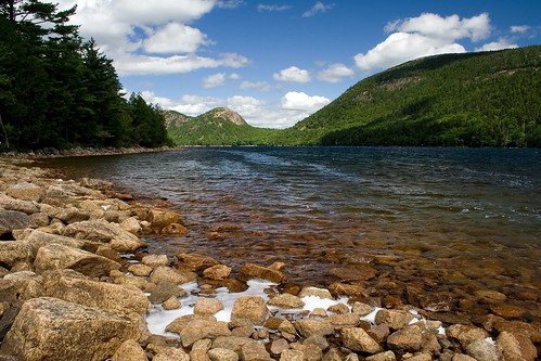 Along the Shore of Jordan Pond