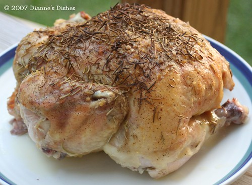 Simple Baked Chicken with Rosemary