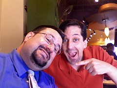 Fechter and me in Starbucks