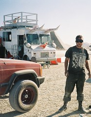 dusty (In dust we trust) Tags: city portrait man black rock hope edited nevada fear playa 2006 burningman blackrockcity burning brc future triceratops 2007 burningman2006 burningman2007