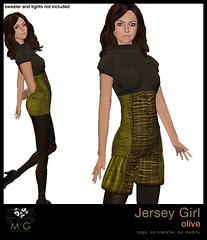 [MG fashion] Jersey Girl (olive)