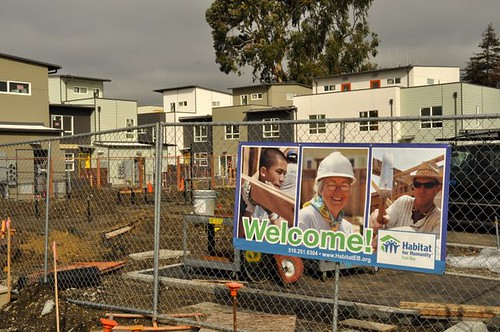 Welcome, says Habitat for Humanity (courtesy of David Baker & Partners)