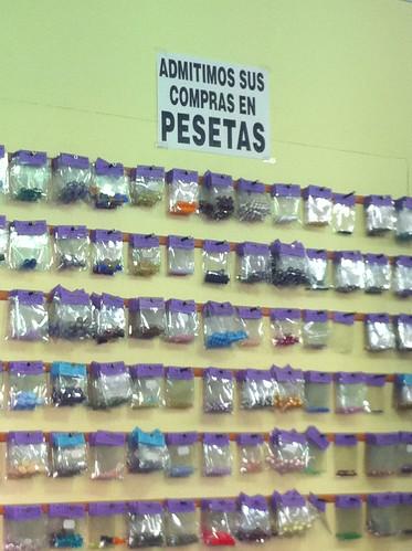 Admitimos sus compras en pesetas