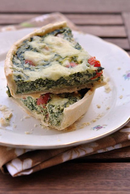 2.Torta spinaci e pomodorini