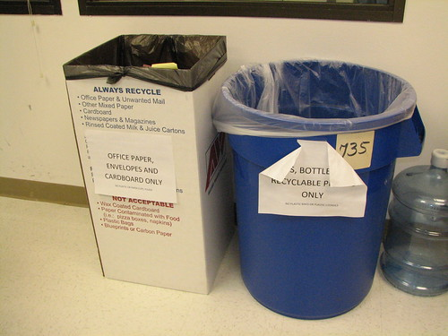 Recycling Station in the DNN Corp Kitchen