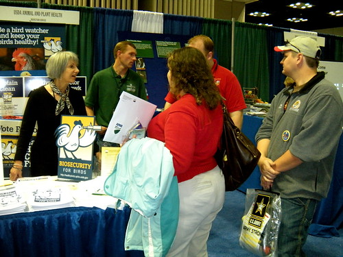Visitors explore the APHIS booth at the National FFA Convention