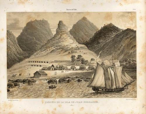 017-Presidio de la isla de Juan Fernandez-Atlas de la historia física y política de Chile-1854-Claudio Gay