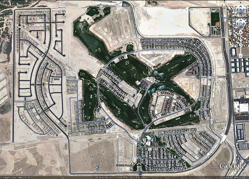 a half-built golf development outside Las Vegas (via Google Earth)