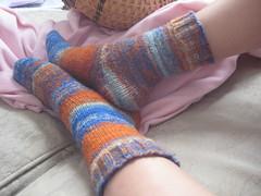 FO: handspun socks