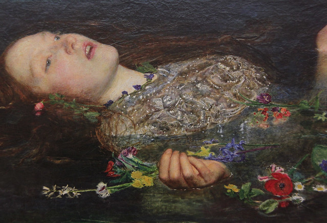 Part of Ophelia, John Everett Millais, 1851-2
