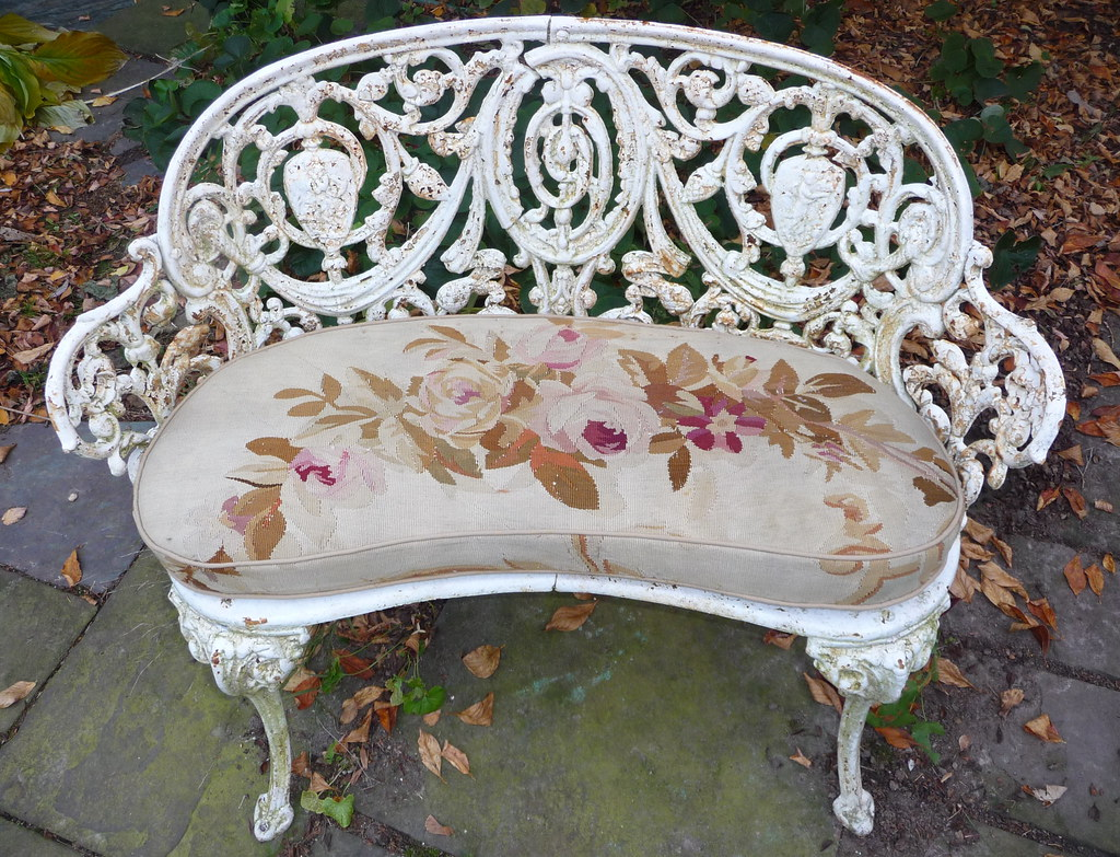 Aubusson Tapestry Cushion for Garden Bench