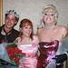 Julie Brown (center) poses with the prom King and Queen