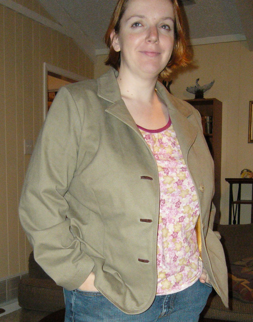 Jacket #17 from OW 2/2006, unbuttoned view