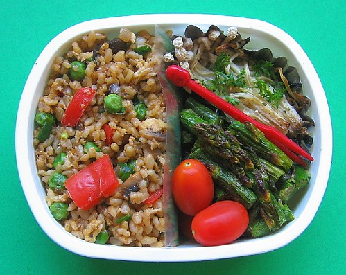 Fried rice lunches, multi-broiling
