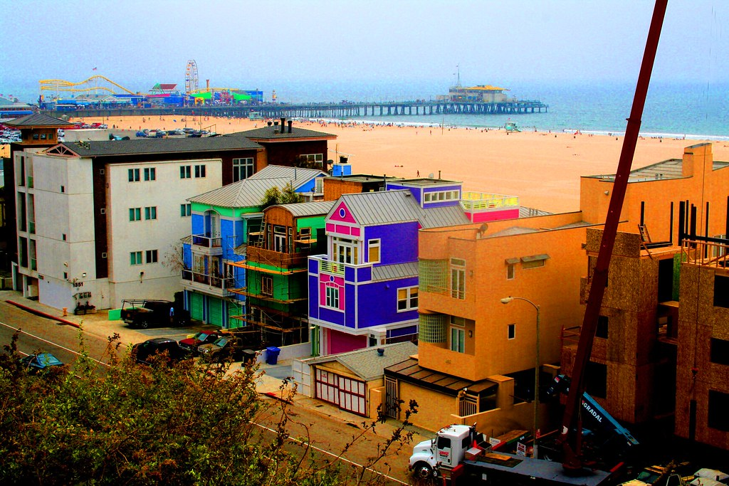 Santa Monica Pier from the Palisades