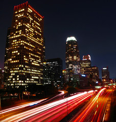 Life zooms by in LA (Menetnasht) Tags: california road leica light night speed buildings lumix la los perfect stream long exposure downtown photographer slow angeles panasonic southern freeway shutter the fz50 thisisnow bigmomma 10faves mywinners abigfave ysplix jalalspagescoloursoflifealbum thatsclassy photofaceoffwinner platinumheartawar theperfectphotographer