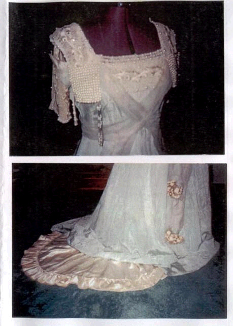 1910 moire gown with petticoat