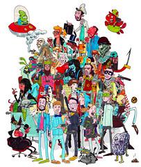 A Good Group (Bobby Breidholt) Tags: people color iceland alien crowd group reykjavik mass dense