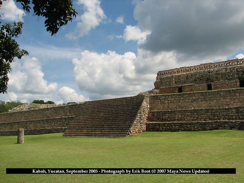 Kabah, Yucatan, Mexico - Stairway with Access to Platform