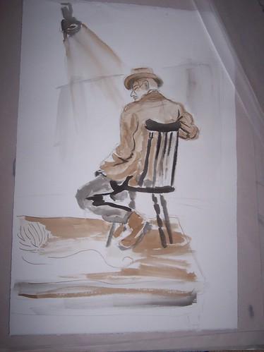 Cowboy sketching (india ink)