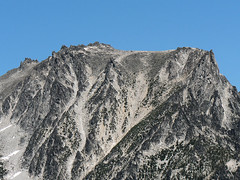 Close up shot of ? Peak along Stuart Range, 7.29.07.