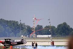 Under the ribbons. (Buckeye Pilot) Tags: show air special airshow stewart marys lamb skip aerobatics pitts s2b lycon