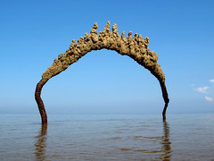 singing beach #11 (sandcastlematt) Tags: sculpture reflection castle beach manchester sand massachusetts drip sandcastle topf100 sandsculpture manchesterbythesea bostonist singingbeach dripcastle interestingness12 universalhub dripsculpture