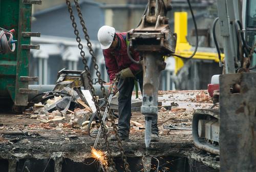 Gewapend beton losbranden