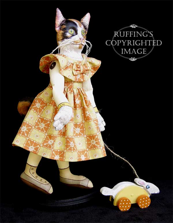 Hedda and Hopper, Original One-of-a-kind Folk Art Dolls by Max Bailey