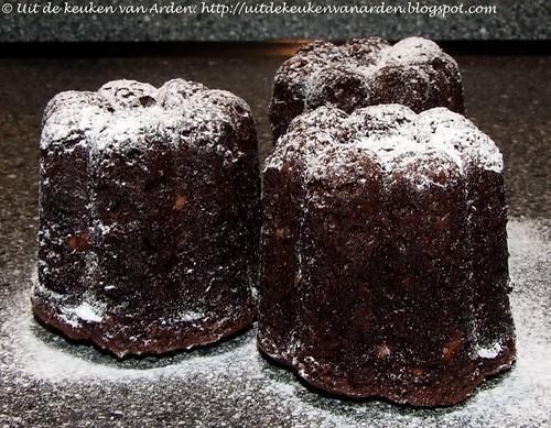 Chocolade-pindakaas cupcakes