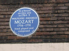 Photo of Wolfgang Amadeus Mozart  blue plaque