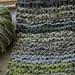 Austria green yarn scarf