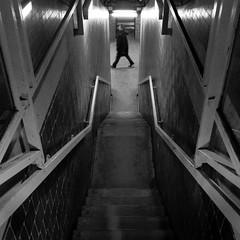 Saint Lazare #27 (philoufr) Tags: blackandwhite paris station stairs square noiretblanc escalier sncf garesaintlazare carrfranais canonpowershots90