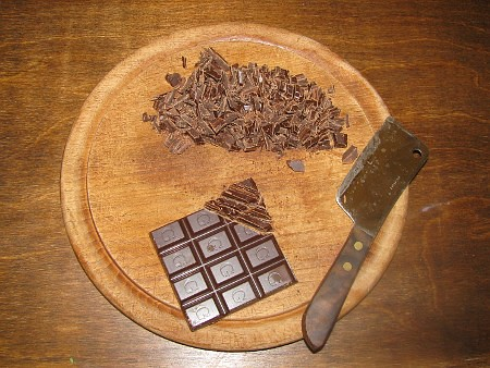 chop chocolate