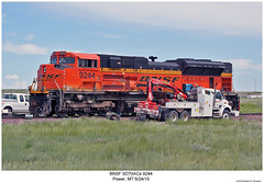 Repair Work (Robert W. Thomson) Tags: railroad train truck work fix montana power diesel railway trains repair locomotive trainengine wreck wrecked bnsf derailed derail derailment emd burlingtonnorthernsantafe sd70 sd70ace sixaxle