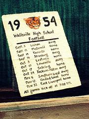Ohio ~ Wellsville (e r j k . a m e r j k a) Tags: ohio football murals 1954 publicart schedule floodwall wellsville columbiana oh11 oh7 upperohiovalley oh45 erjkprunczyk oh39
