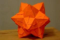 Nearly a Bascetta Star (ebygomm) Tags: paper star origami modular bascetta