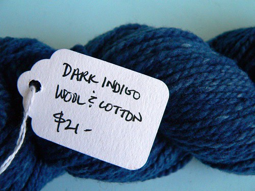Earthues Dark Indigo Wool & Cotton