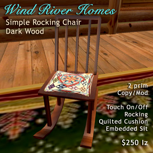Simple Rocking Chair - dark wood by Teal Freenote