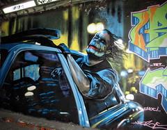 Joker graffiti (duncan) Tags: graffiti leakestreet london batman joker heathledger